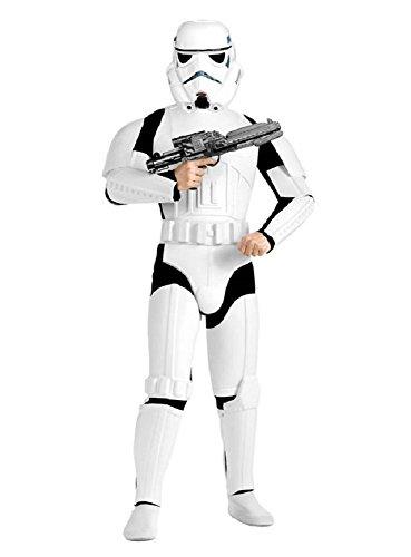 Star Wars Stormtrooper Kostüm Deluxe weiss schwarz (Bundle) M/L (Deluxe Obi Wan Kenobi Kostüm Für Erwachsene)