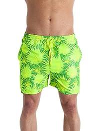 Short de bain - homme - à motifs/citron vert