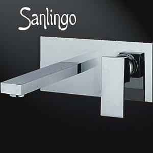 design unterputz chrom 2 loch waschtisch armatur massiv messing sanlingo manchester. Black Bedroom Furniture Sets. Home Design Ideas