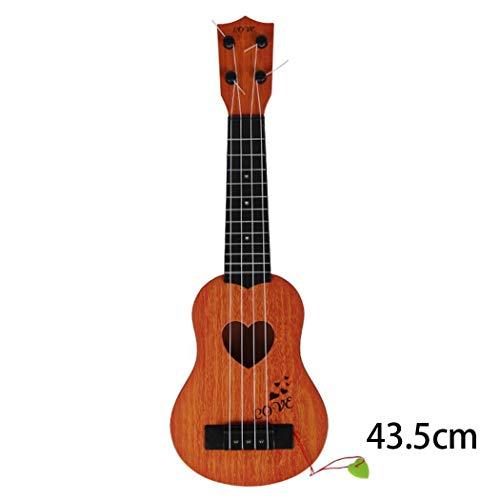 Chigant Simulación Guitarra Juguete para Niños 4 Cuerdas Ukeleles Guitarra Infantil Instrumentos Musicales
