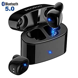 Pendoo Wireless Earphones, T6 TWS True Bluetooth Earbuds Hi-Fi Stereo Deep Bass Sports Mini Wireless Earbuds In Ear 24H Playtime Bluetooth V5.0 CVC8.0 Built-in Mic Waterproof with Charging Case