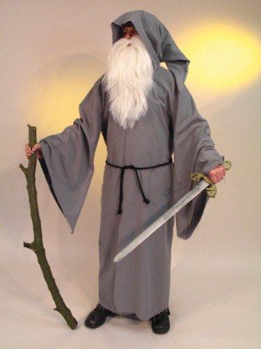 Karneval Herren Kostüm Druiden Mantel für Halloween Universalgröße (Druide Kostüm)