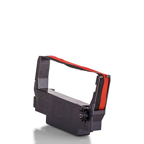Inkadoo Farbbänder passend für Epson TM 300 B kompatibel zu Epson ERC38BR C43S015376 - Premium Nylonband Alternativ - Schwarz, Rot