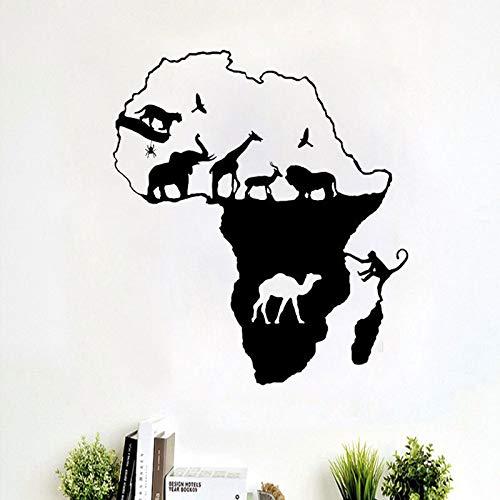 Heißer verkauf Neue Cartoon DIY Afrikanischen kontinent Aufkleber für kinderzimmer Wandaufkleber Dekoration Fluoreszierende Wohnzimmer Wohnkultur