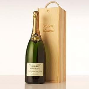 Magnum personnalisé gravé en bois de Champagne dans une boîte-cadeau idéal pour un anniversaire, Noël, Father's Day Gifts-Champagne-cadeau pour elle et lui