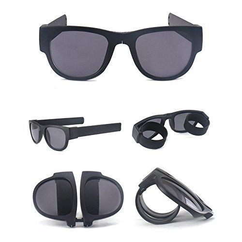 Die Original NEW SlapSee PRO Sonnenbrillen mit POLARISIERTEN Gläsern (Schwarz Schwarz Neutral)