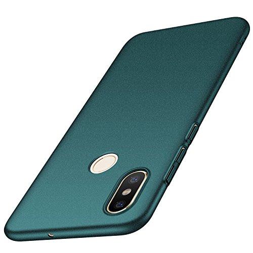 تغطية Ancer Xiaomi Mi 8 [سلسلة ملونة] من حماية المطاط جامدة من الشلالات وتأثيرات Xiaomi Mi 8 (الحصى الأخضر)