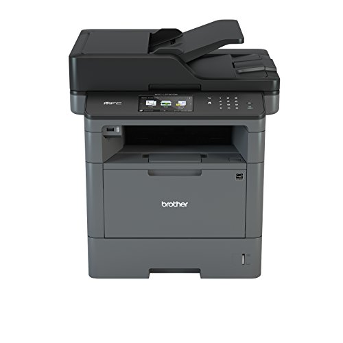 Brother MFC-L5750DW Stampante Multifunzione Laser, Monocromatica, Fax, con Fronte/Retro, Duplex, Scanner Dual CIS, LAN, Wi-Fi