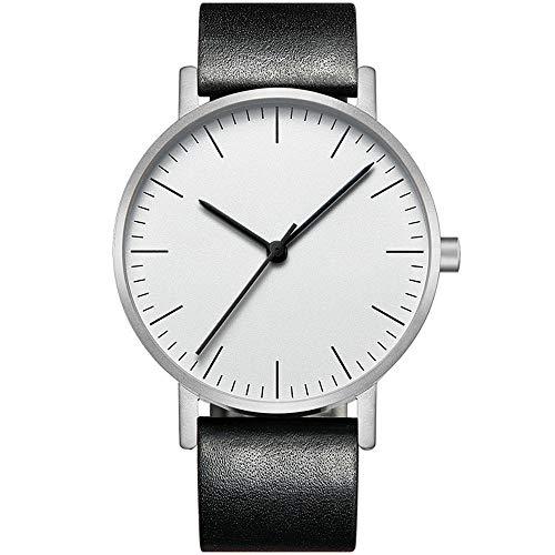 Irugh Reloj de Cuarzo analógico, Minimalista, Ultrafino, Original japonés, Movimiento de la batería...