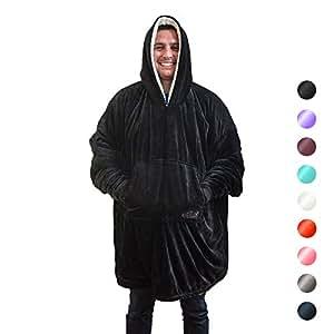 The Comfy - Die Decke, Das Auch Ein Sweatshirt ist, Eine Größe Passt am Meisten, Weich und Gemütlich Kuscheldecke Sweatshirt