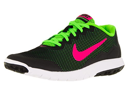 Nike Wmns Flex Experience Rn 4, gymnastique femme Black/Pink Blast/Electric Green/White