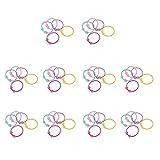 Lot de 50pcs Bande de Cheveux Elastique Multicolore - Perles d'Etoiles