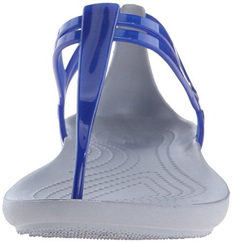Crocs  Isabella T Strap W, Chaussures à brides femme Cerulean Blue