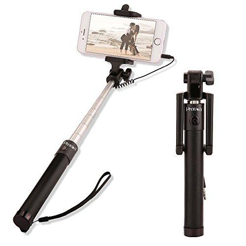 Photron SLF400 3rd Gen Wired Selfie Stick Monopod Holder Compact...