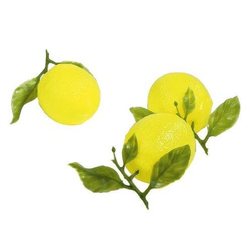Deko-Woerner Zitronen 10cm 5,5cmØ 3Stück