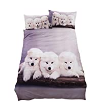 Inlefen Bedding Duvet Cover Set 3D Cute Animal Three Sets for girls boys