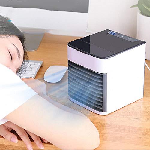 Mini-Luftkühler mobile Klimaanlage elektrischer Ventilator tragbar USB-Aufladung Kühlung zu Hause Schlafsaal Luftbefeuchter Luftreiniger @ schwarz und weiß