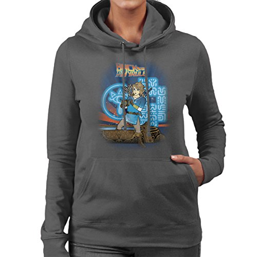 Legend Of Zelda Back To My Hyrule Women's Hooded Sweatshirt Anthracite