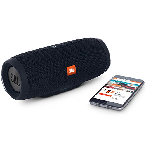 JBL Charge 3 Powerful Portable Speaker with Built-in Powerbank (Black)