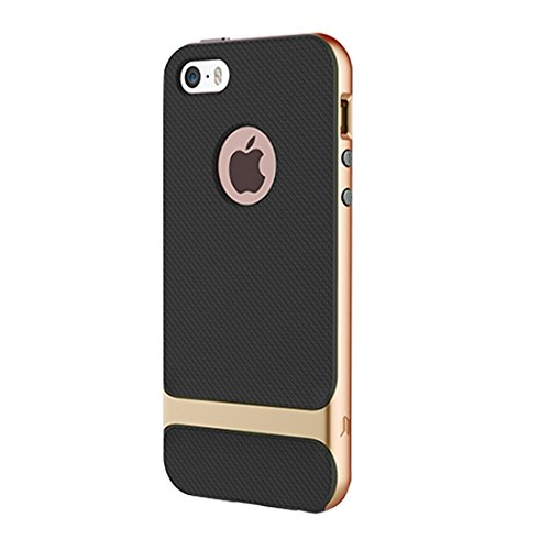Wkae Case & Cover Roche Royce Series pour iPhone 6 & 6s Business Style TPU + Housse de protection PC ( Color : Gold ) Gold