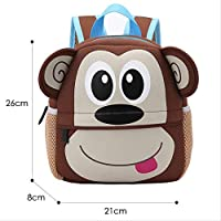 GLQA School Bag Fashion Kids School Backpack Girl 3D Cute Bear Bag Cute Moving Kids Backpack