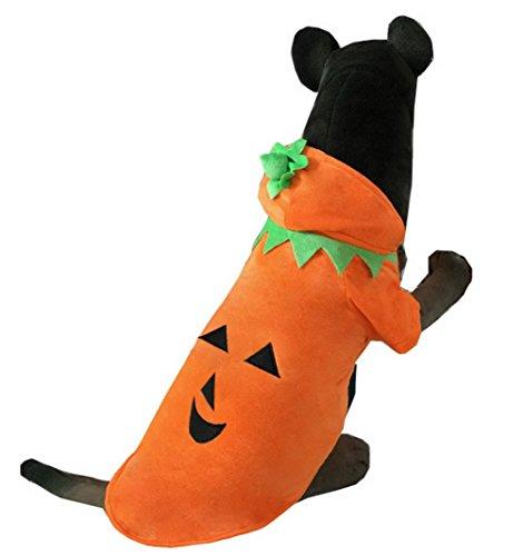 eidung für Winter Kürbis Hund Kostüm Hoodie Hundemantel orange (Männliche Kürbis Kostüme)