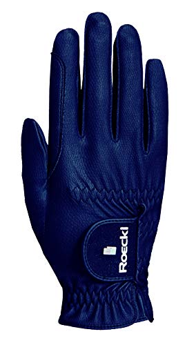 Roeckl Sports Roeck Grip Pro Handschuh, Unisex, Reithandschuhe, Touchscreen, Marine 7,5