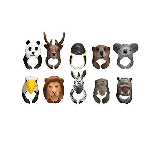 Für Anzahl Erwachsene Kostüm - Xbeast 3D Tier Ring Spielzeug für Kinder Erwachsene - 10pcs Tanzen, Partys Kostüme Geschenk