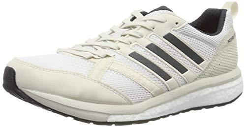 adidas Herren Adizero Tempo 9 M Laufschuhe, Weiß Raw White/Carbon/Shock Red, 44 EU