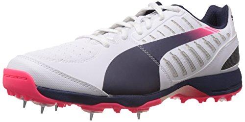 Puma , Chaussures de cricket pour homme Blanco/Azul Marino/Rosa