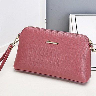 SUNNY KEY-Borsa a tracolla @ Donna Borsa a tracolla PU (Poliuretano) Per tutte le stagioni Casual Rettangolare Cerniera Nero Grigio Viola Vino Rosa , blushing pink black