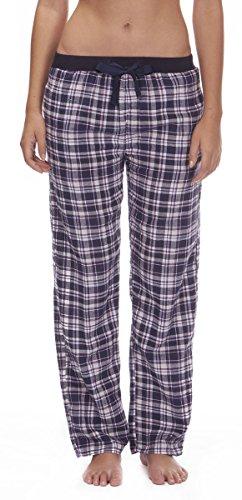 Generic - Bas de pyjama - Femme Motif à carreaux Bleu marine