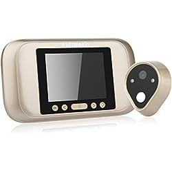 DIDseth Judas numérique – 3.2 Écran LED porte Viewer 960P longue veille Fonction de sonnette de porte, fonction vidéo, fonction Supporte carte SD jusqu'à 32 Go à piles