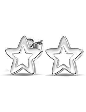 Hosaire 1 Paar Ohrringe Sterne Weiblich Hohl Ohrringe Sterling Frau Elegante Ohrringe Niedliche Mädchen Geschenk...