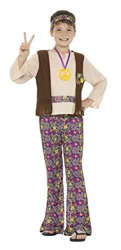 Smiffys Hippie-Kostüm für Jungen, 60er / 70er Jahre, Groovy Peace