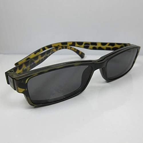 Getönte Lesebrille +2,5 havanna mit Magnet Clip-on UV400 CAT.3 Lese-Sonnenbrille