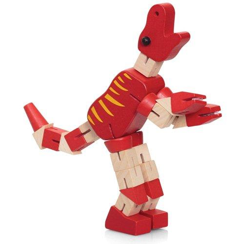 Preisvergleich Produktbild Twist & Lock Dino Blöcke Holz Dinosaur Abbildung Mit Einstellbare Gelenke Hölzerne Spielzeug