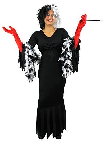 Dguisement-de-la-femme-cruelle-envers-les-dalmatiens-avec-une-robe-une-perruque-un-boa-un-fume-cigarette-des-gants-rouges-Idal-pour-les-enterrements-de-vie-de-jeune-fille