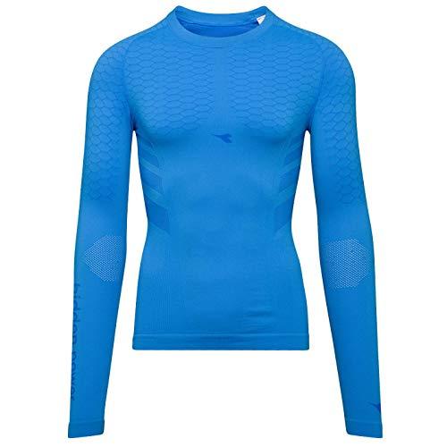 Diadora LS T-Shirt ACT - Herren SKI- & SPORTUNTERWÄSCHE - Hidden Power Active - Größe L/XL (Light Blue) -