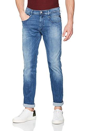 Replay Herren Slim Jeans Blau (Medium Blue 010)