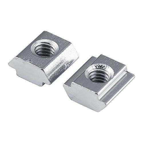 Xinrub 50 teile/beutel Nickel Beschichtetem Kohlenstoffstahl Schiebe T-Nut Mutter für Aluminiumprofil Zubehör mit EU(EU20-M4)