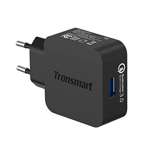 Tronsmart Quick Charge 3.0 Cargador USB de 18W para Samsung Galaxy S8, S8 plus,Google Pixel Pixel XL Samsung / Edge / Plus,Note 5 4, Xperia Z5,xiaomi 6/5, bq, iPhone y más(USB A- Type C cable incluido)