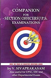 COMPANION FOR SECTION OFFICER'S / P.S. EXAMINATIONS