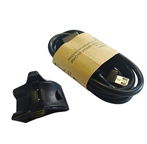 Aresh für Ladegerät Cradle Kabel für Huawei Band 2 Pro, USB Port Ladeschale mit USB Ladekabel Ladegerät Stand für Huawei Band 2 Pro (Schwarz)
