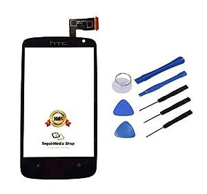 HTC Desire 500 D500 Touchscreen Display Glas Digitizer Lens Scheibe Schwarz + Werkzeugset