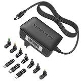 BERLS 5V 3A/3000mA Bloc d'alimentation Adaptateur Secteur Universel Chargeur 5.5x2.1mm AVCE 10 Connecteurs pour Tablette, Bluetooth Speaker, Console, Manette Jeu, Raspberry, Routeur, HUB, Téléphonie