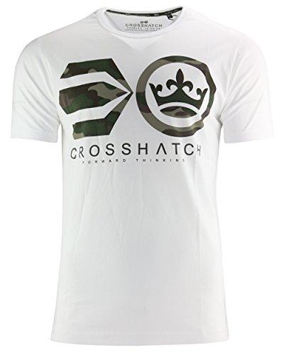 CROSSHATCH Herren T-Shirt Deemer weiß (White)