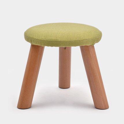 LQQGXL European chair Coffee table stool fashion stool solid wood stool creative shoe stool fabric sofa stool (Color : D)