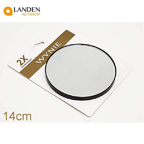 WYNIE Espejo de Aumento Aumento de 2,para Pegar sobre Espejo de tocador,14cm de diámetro,