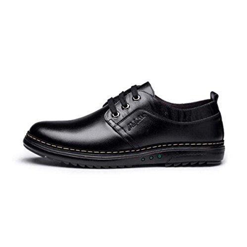 Autunno Affari Scarpe Casual Uomo Pizzo Versione Coreana Inghilterra Scarpe Da Uomo Scarpe Di Cuoio Scarpe Singole Black